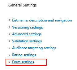 FormSettings